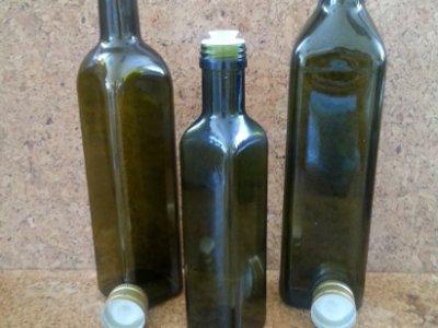 Olaj -Ecet, Juice üvegpalack & kiöntős csavarzár