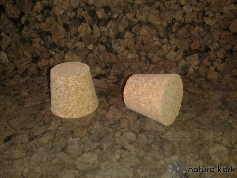 Kónuszos parafa dugó - agglomerált 32x37/28 mm